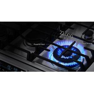 22K BTU dual power burner