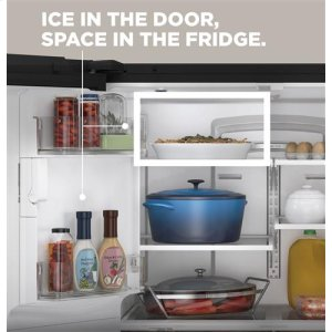 Space-saving icemaker