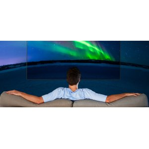 Maximizes the viewing area