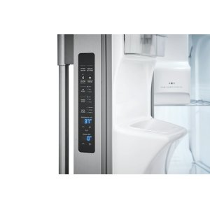 Controls on side of refrigerator door