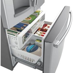 Two-level freezer storage baskets