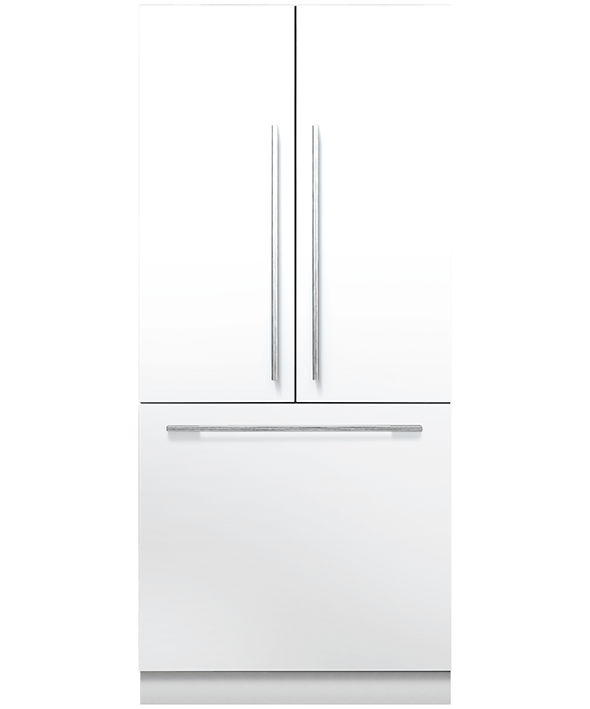 Custom Panel Refrigerator French Door Part   28: Fisher U0026 Paykel  RS36A80J1 Integrated
