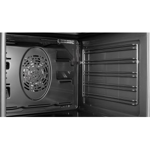 Easy-to-Clean Gray Enamel Oven Interior