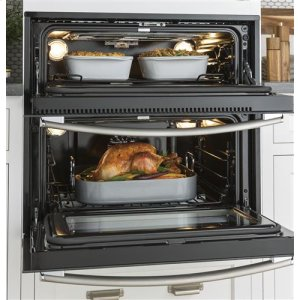 5.0 cu. ft. total oven capacity (2.8 lower; 2.2 upper)