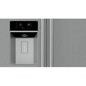 Through-the-door Ice and Water Dispenser