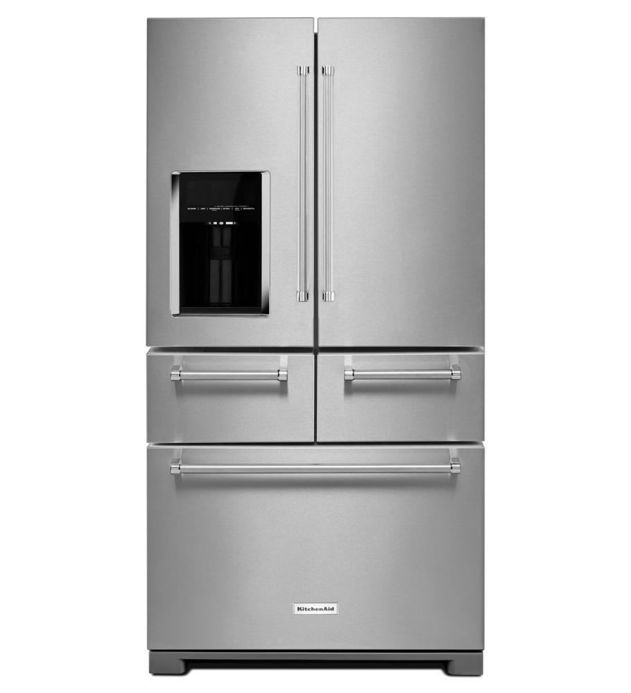 Shop KitchenAid Refrigerators in Mass   French Doors KRMF706ESS