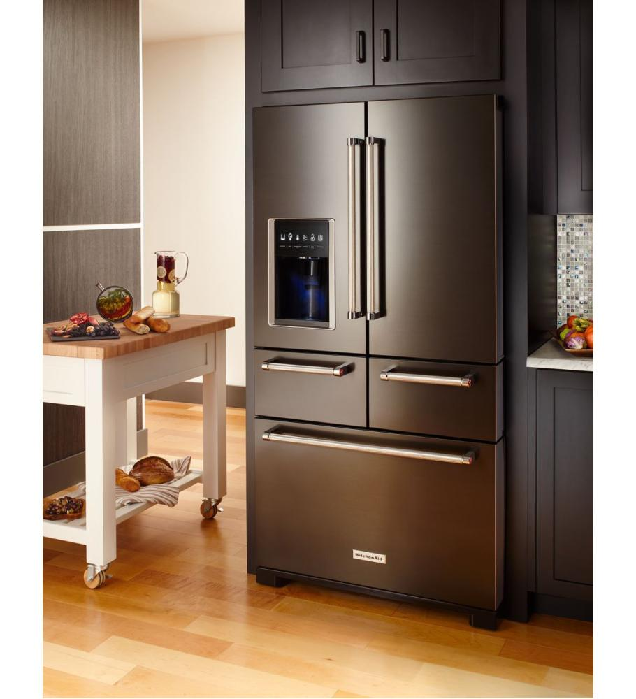 Shop kitchenaid refrigerators in mass french doors - Kitchenaid refrigerator platinum interior ...