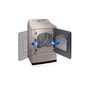 Reversible Dryer Door