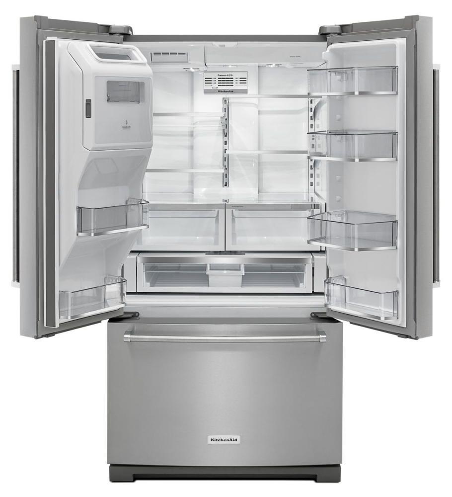 See Kitchenaid Refrigerators In Mass French Doors Krff507ess