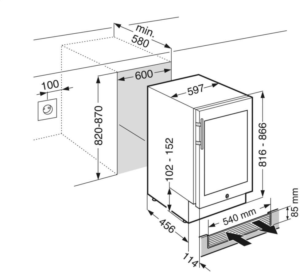 liebherr model wu3400 caplan s appliances toronto ontario 18 Undercounter Wine Cooler design guide spec sheet