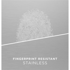 Fingerprint resistant stainless
