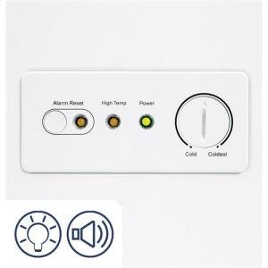 Audible temperature alarm