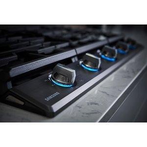 Blue LED illuminated knobs