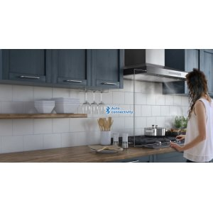 One-touch control of both cooktop & hood