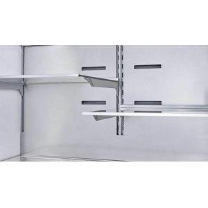 Organized 2-tiered freezer drawers