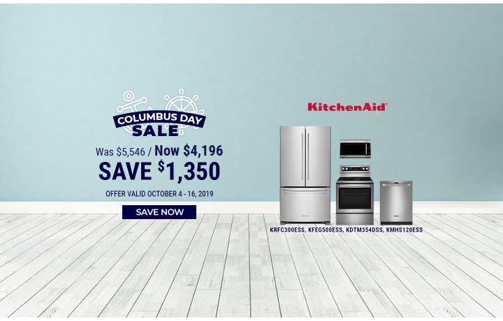 KitchenAid NEAEG Columbus Day 2019