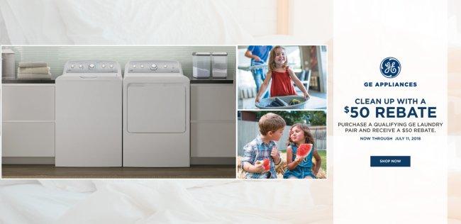 GE Clean up with a $50 Rebate July 2018