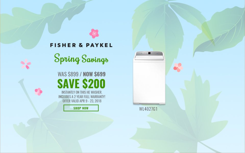 Fisher & Paykel NECO Exclusive Earth Day 2018