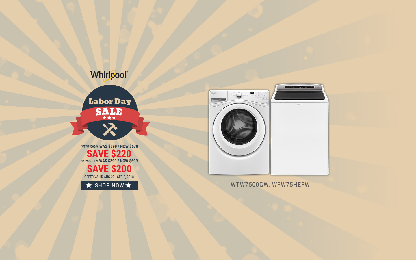 Merveilleux Whirlpool NECO Exclusive Labor Day 2018