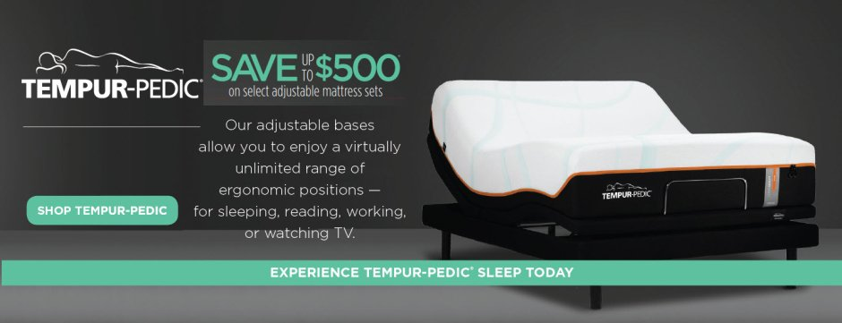 Tempur-Pedic AdRocket Organic Presidents Day 2019