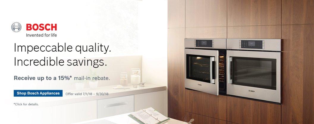 Bosch Benchmark Kitchen Suite Rebate 2018 Q3