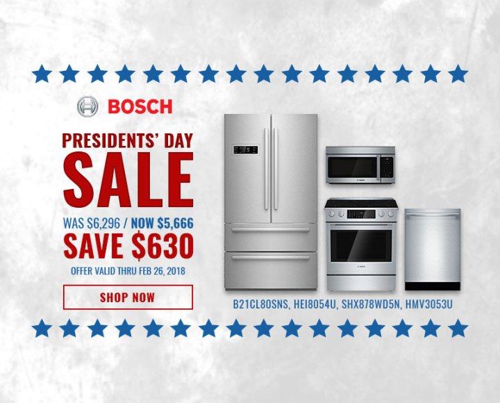Bosch NECO Exclusive Presidents Day 2018