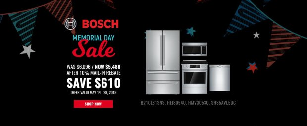 Bosch NECO Exclusive Memorial Day 2018