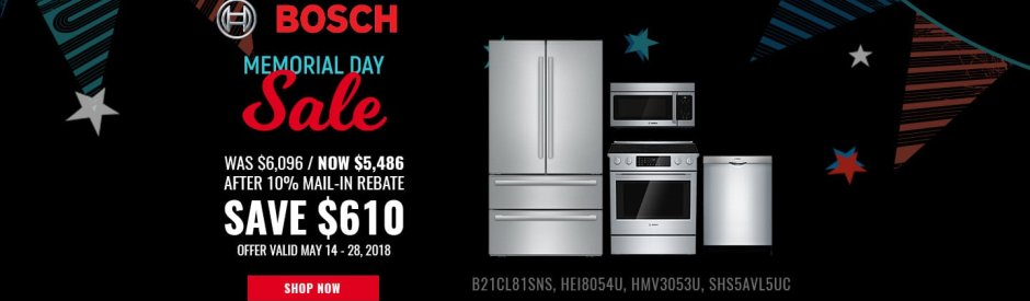 Bosch NECO Exclusive Memorial Day 2018