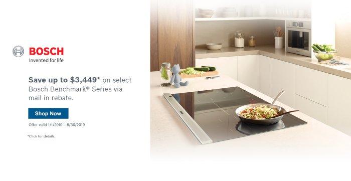 Bosch Benchmark Kitchen Suite Rebate Q1 2019