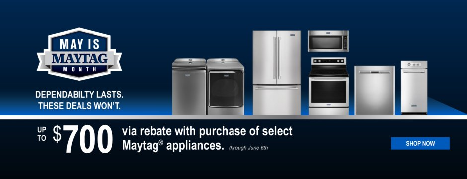 May is Maytag Month National 2018