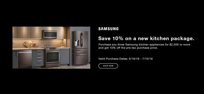 Samsung Summer Kitchen Rebate 2019