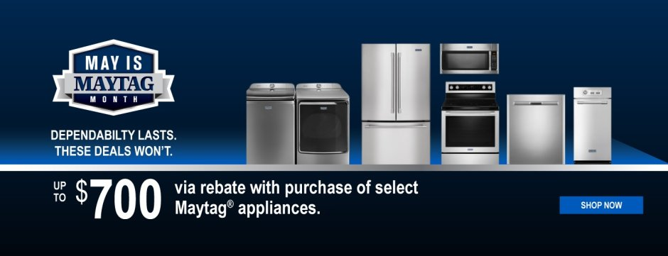 May is Maytag Month Organic 2019