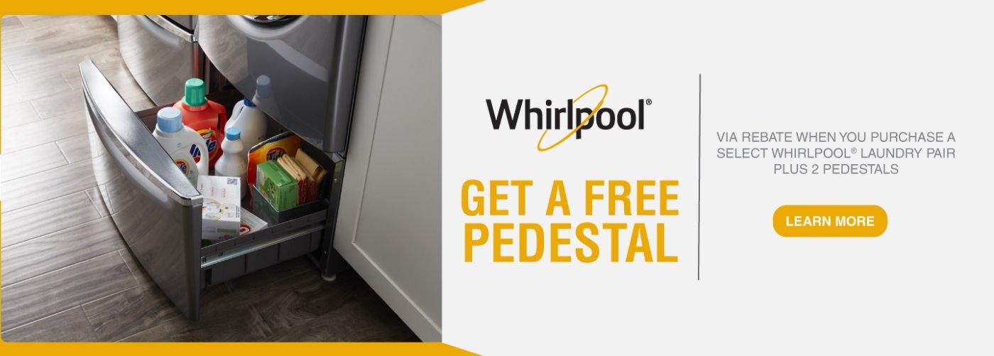 Whirlpool Free Pedestal Feb 2018
