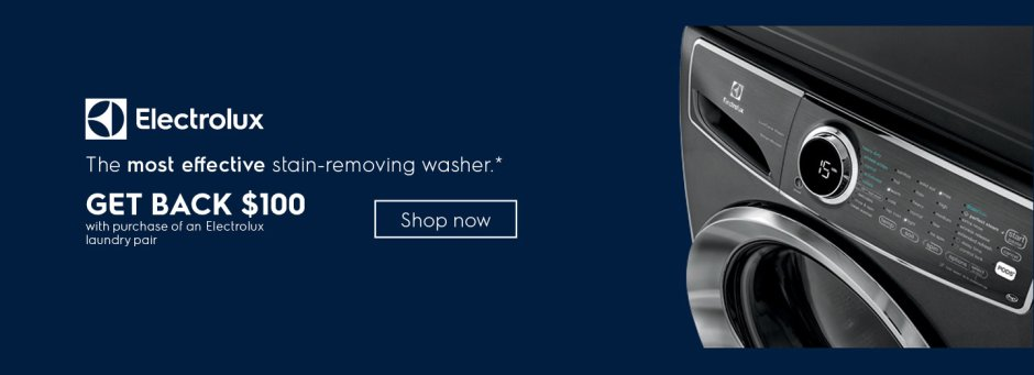 Electrolux $100 Laundry Pair Rebate July 2018