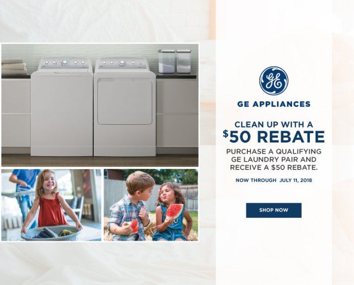 GE Clean up with a $50 Rebate July 2018