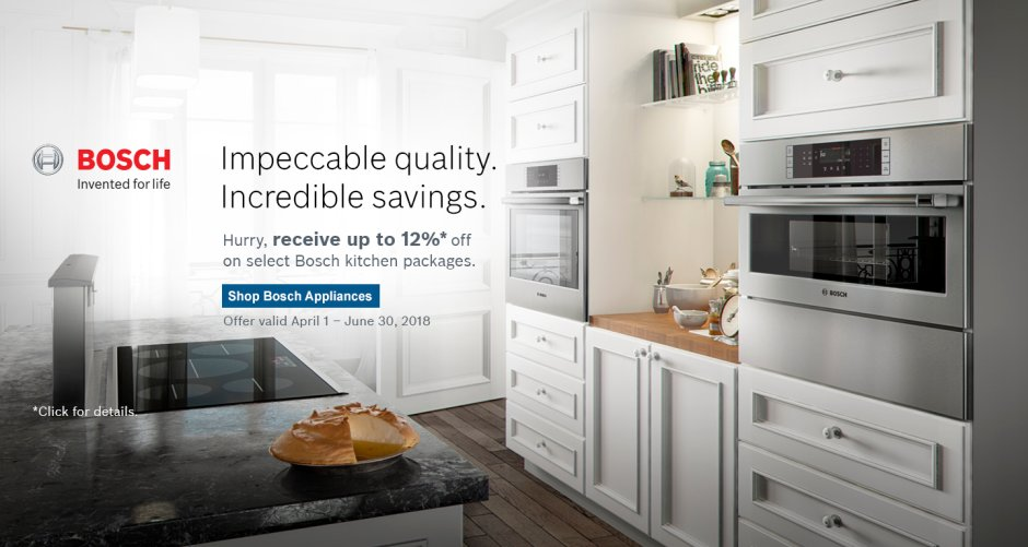 Bosch Kitchen Suite Rebate 2018 Q2