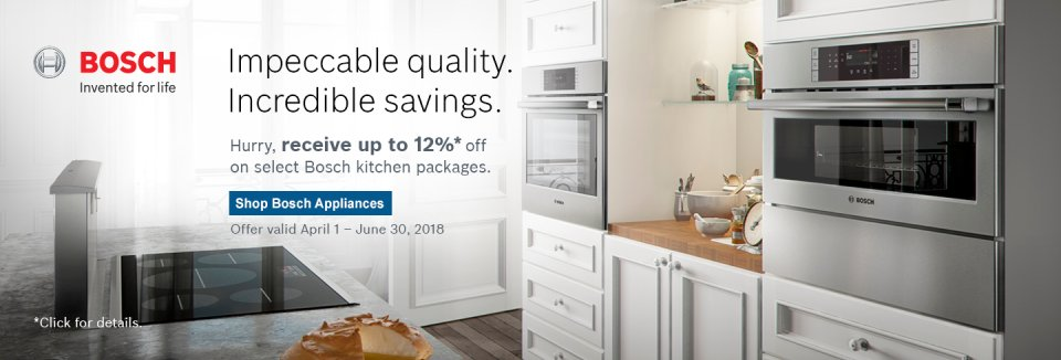 Bosch Kitchen Suite Rebate 2018 Q2