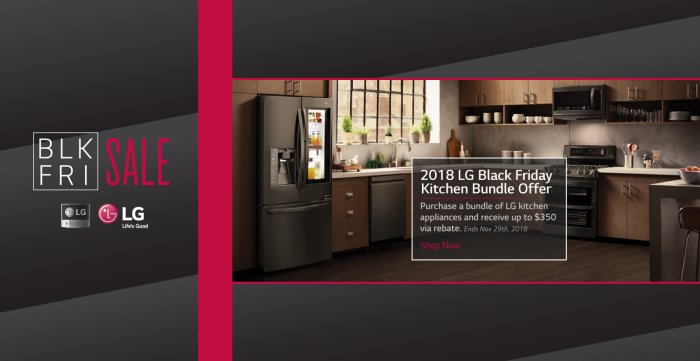 LG Black Friday Kitchen 2018