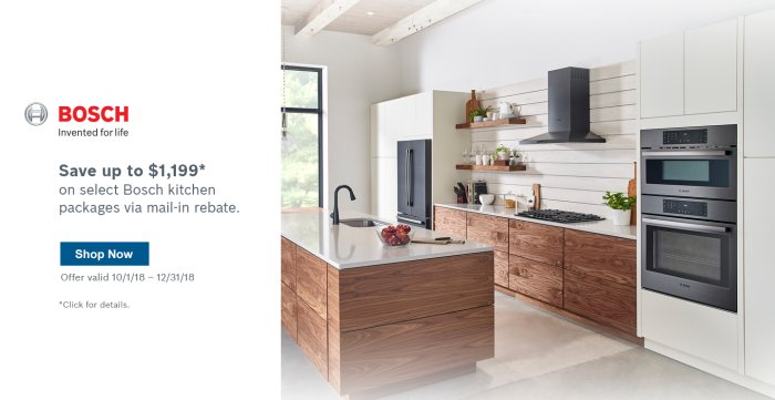 Bosch Kitchen Suite Rebate 2018 Q4