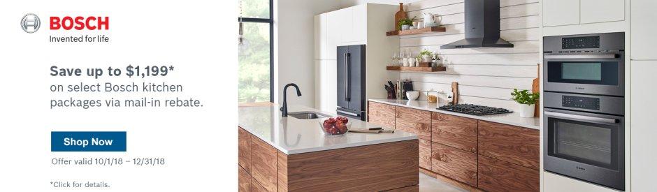 Bosch Kitchen Suite Rebate 2018 Q4