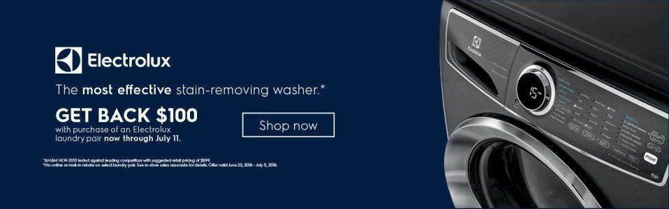 Electrolux $100 Laundry Pair Rebate June 2018