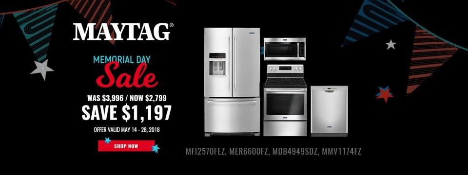 Maytag NECO Exclusive Memorial Day 2018