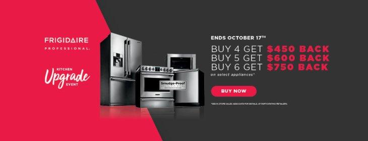 Frigidaire Professional Kitchen Upgrade Event September 2018