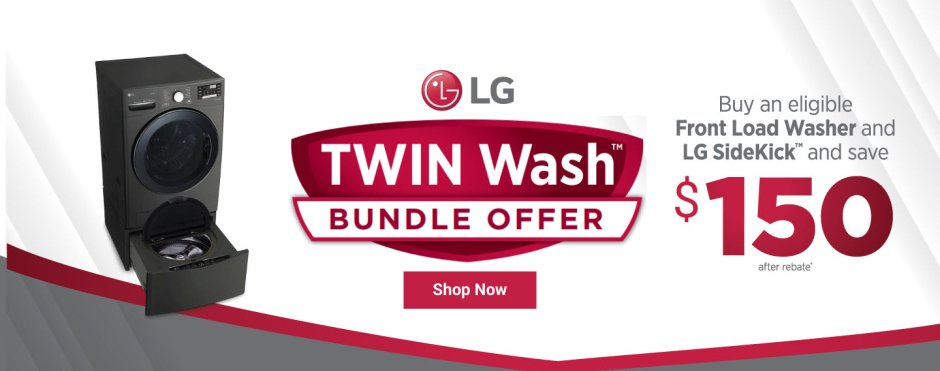 LG TwinWash Bundle Offer Nov 2019