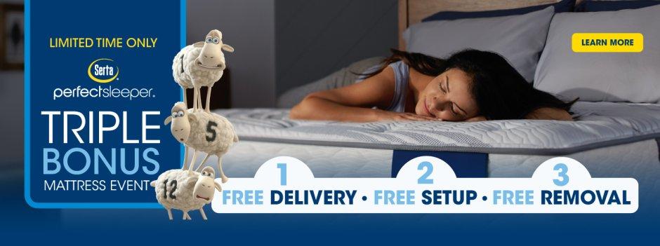 Serta Perfect Sleeper Triple Bonus Event 2018