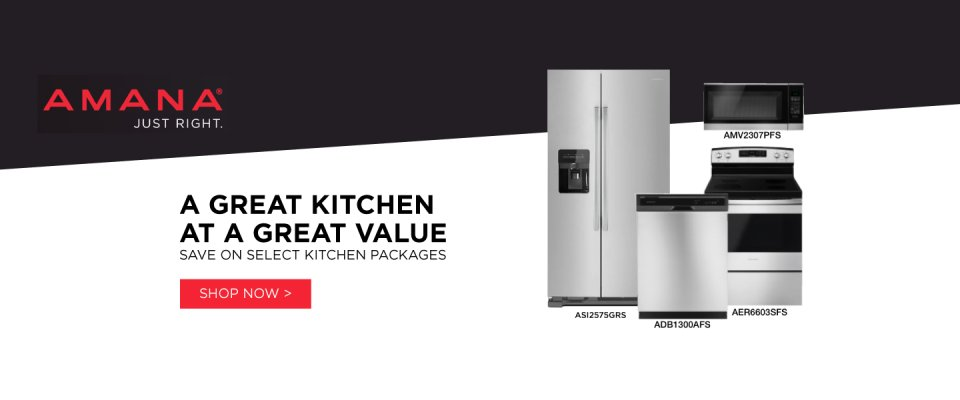Amana Stainless Steel Kitchen Suite 2018