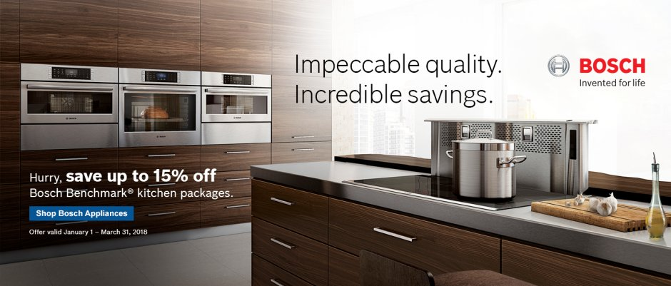 Bosch Benchmark Kitchen Suite Rebate 2018 Q1