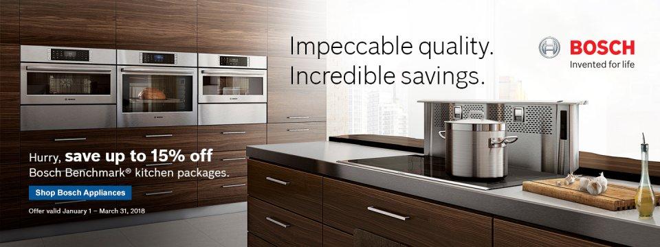 Bosch Benchmark Kitchen Suite Rebate 2018 Q1