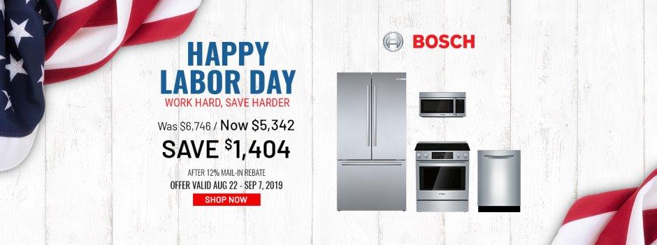 Bosch NEAEG Labor Day 2019