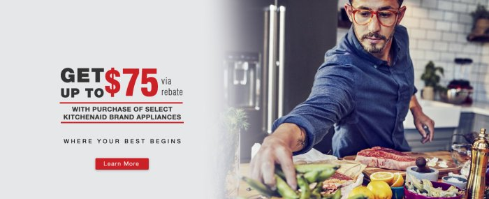 KitchenAid Up to $75 Q2 2018
